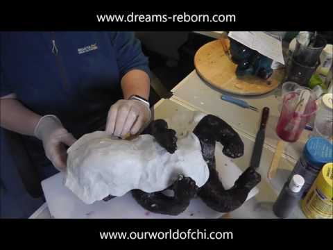 Making a Silicone Baby Doll - Part 2: mother mould, seam and removing sculpt