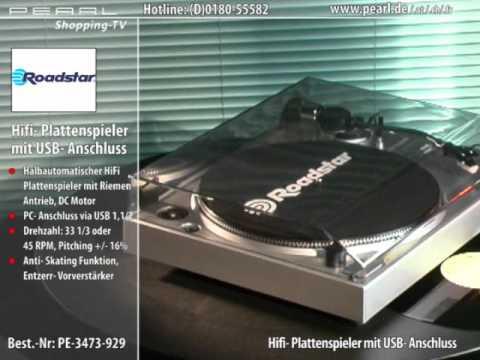 roadstar hifi plattenspieler mit usb anschluss silber youtube. Black Bedroom Furniture Sets. Home Design Ideas