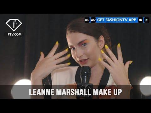 New York Fashion Week Spring/Summer 2018 - Leanne Marshall Make up   FashionTV