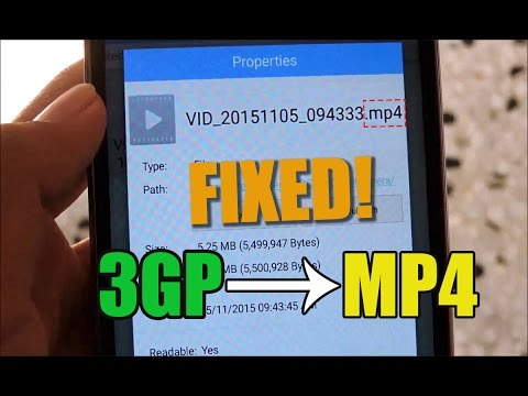 How To Record Videos In MP4 Format With Any Smartphone *3GP Recording Fix* | Coolpad Dazen Note 3