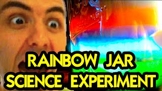 RAINBOW JAR SCIENCE EXPERIMENT | LaneVids & TheFunnyrats Science Project