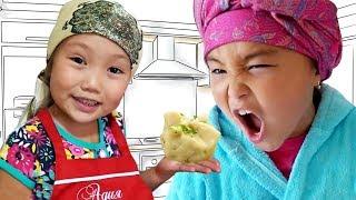 Адека персик и Аминка Витаминка 😀 Манты рецепт от Келинки 👍 Новые Приколы 🤣