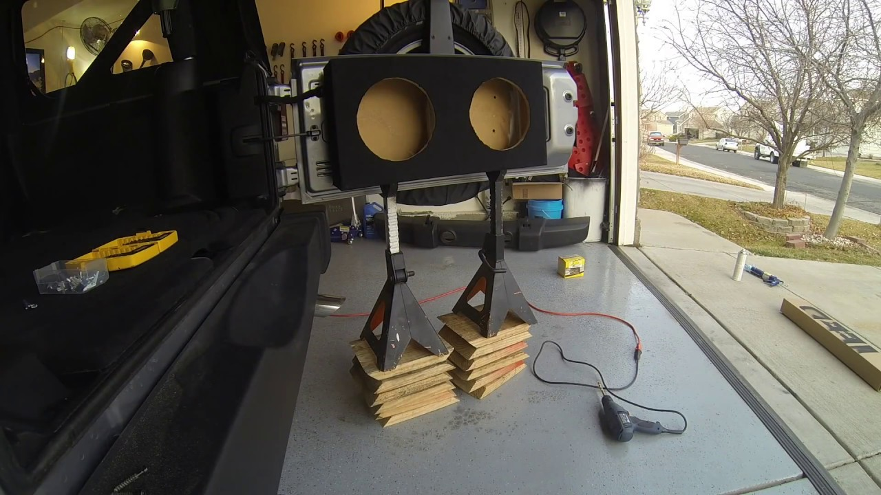 Jeep Wrangler Jk 2013 Subwoofer Box Build Youtube