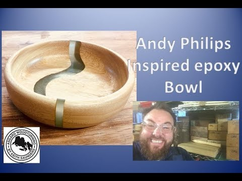 Andy Philip inspired Hybrid Wood and Epoxy Bowl
