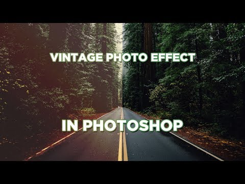 Видеоурок: Винтажный эффект, ретро фото в Фотошопе / Vintage Effect, Retro Photo (Photoshop)