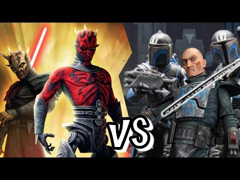 Clone Wars - Savage And Darth Maul Vs Pre Visla And Death Watch