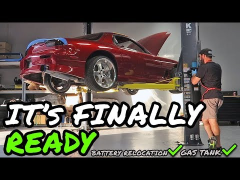THE FD RX-7 IS NOW READY TO START FOR THE FIRST TIME IN 14 YEARS!