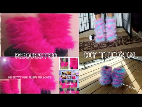 COTTON CANDY & HOTT PINK FLUFFY FUR BOOTS (REQUESTED)