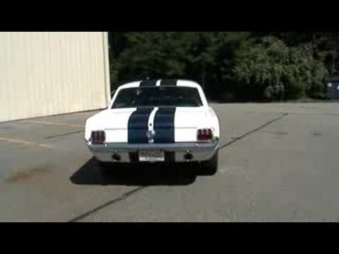 Lous Custom Exhaust >> 1966 Ford Mustang with Dual Exhaust - YouTube