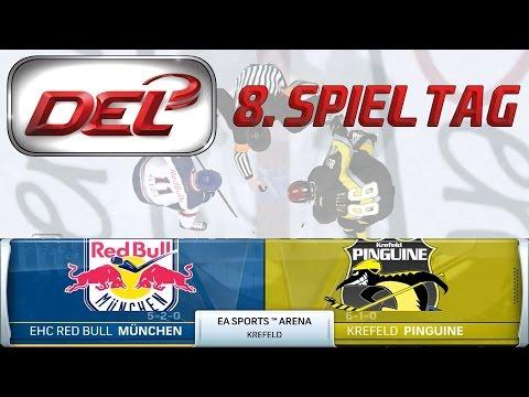 Deutsche Eishockey Liga [DEL][60fps][Deutsch] #008 - Krefeld Pinguine - EHC Red Bull München