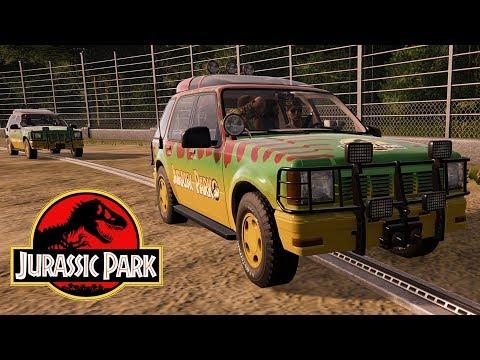 Jurassic Park 1993 Rebuilt! T-Rex & Raptors Breaking Out Again! (4K 60FPS) |