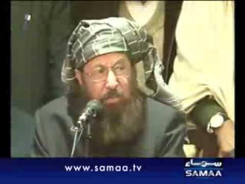 Maulana Sami asks govt, Taliban to announce ceasefire