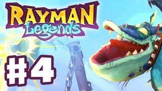 Rayman Legends - Gameplay Walkthrough Part 4 - Dragons (PS3, Wii U, Xbox 360, PC)