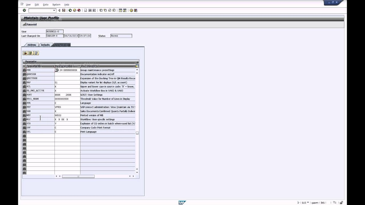 How To Use Sap Parameter Id To Set User Defaults Youtube