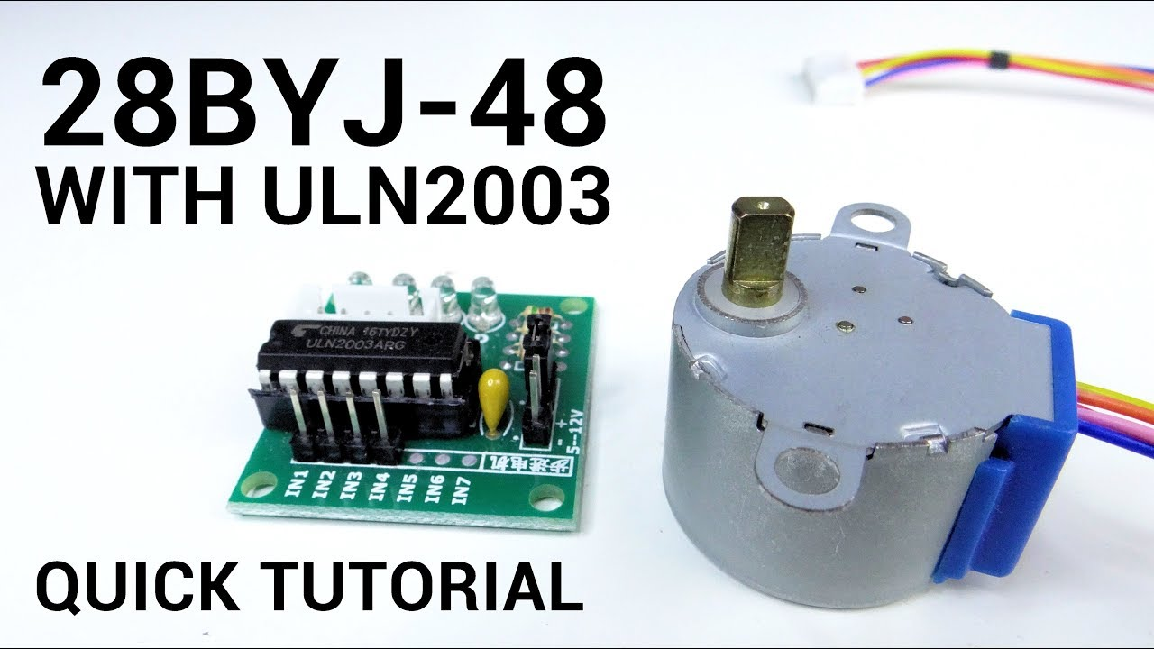 28BYJ-48 stepper motor and ULN2003 Arduino (Quick tutorial for beginners)