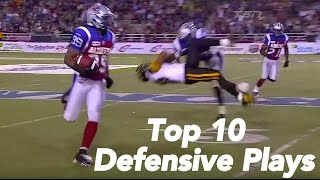 CFL Top 10 Defensive Plays of 2012
