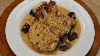Pork Chops in Apple Brandy Sauce with Michael's Home Cooking