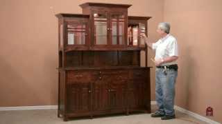 Bungalow China Cabinet-MADE IN THE USA