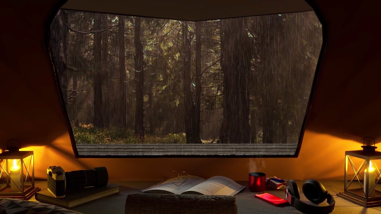 Rain On Tent Sound 8 Hours- Sleeping in the tent on rainy forest | Relaxation and Sleep |