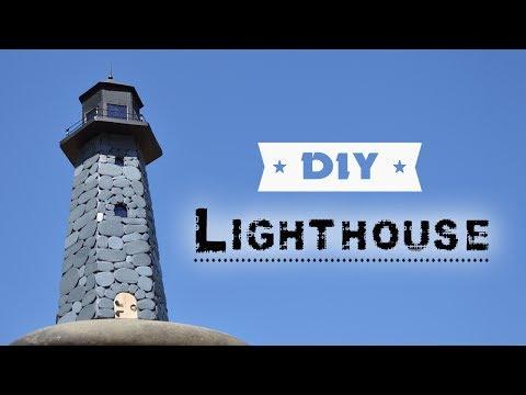 DIY Lighthouse   How To Make Lighthouse Of Cardboard And Solar Garden Light