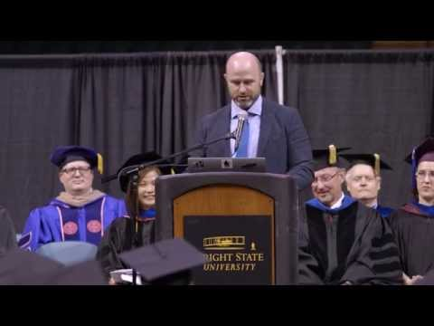 Jimmy Hatch, founder SpikesK9Fund, shares experience & advice with Wright State Business Graduates