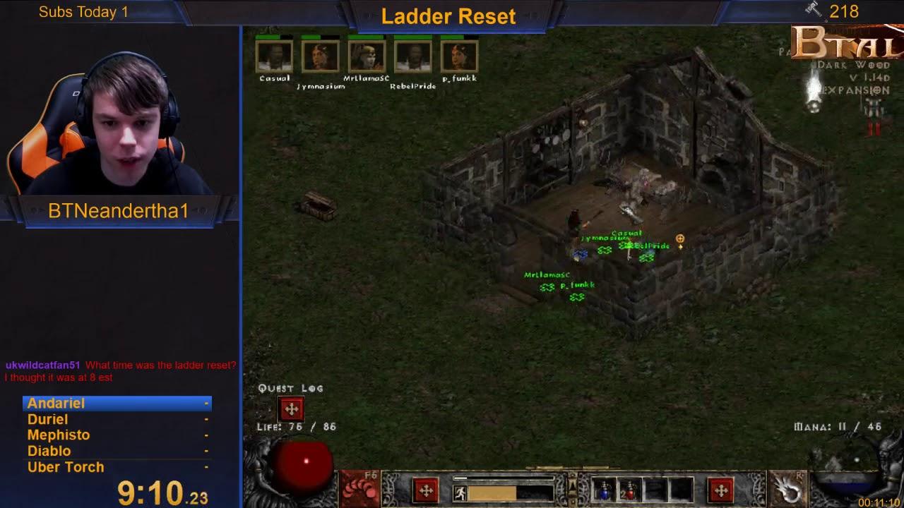 Stream Team Ladder Reset Run Through Ubers! (Diablo 2) [December 7, 2018]