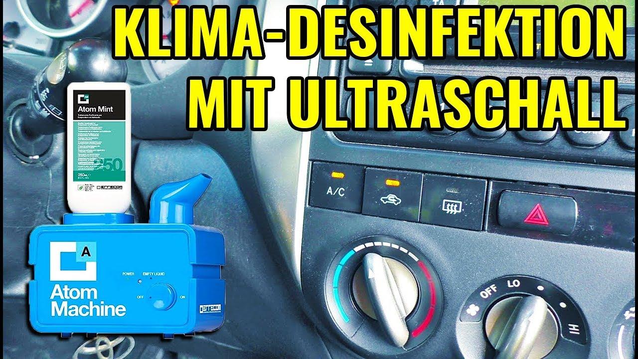 ultraschall klima desinfektion mit vernebler flush smelly ac system with ultrasonic nebulizer. Black Bedroom Furniture Sets. Home Design Ideas