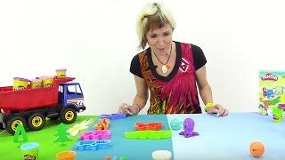 Мультфильмы для детей Экскаватор Мася и видео Весёлая Школа с Play Doh. Лепим животных