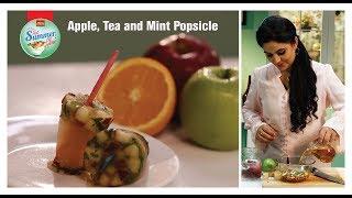 #GetSummerGlow Apple, Tea & Mint Popsicle