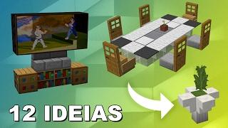Minecraft: TOP 12 IDEIAS DE MÓVEIS MODERNOS ‹ Many ›