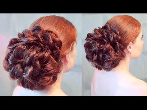 Повседневная, но очень эффектная причёска с валиком. - Hairstyles by REM