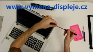 Asus X552M výměna displeje LCD display Screen Replacement Videonávod