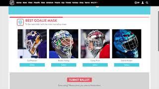 NHL 2021 Fan Choice Awards Selections