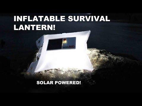 Solar Powered Survival Lantern! luminAID Inflatable LED