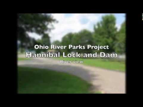 OHIO Monroe Hannibal Locks and Dam river view