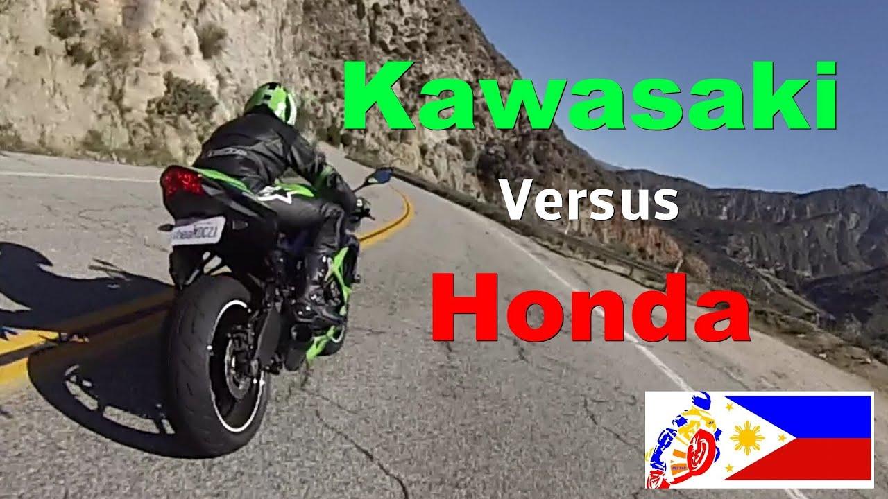 Honda Cbrr Vs Kawasaki Ninja R Youtube