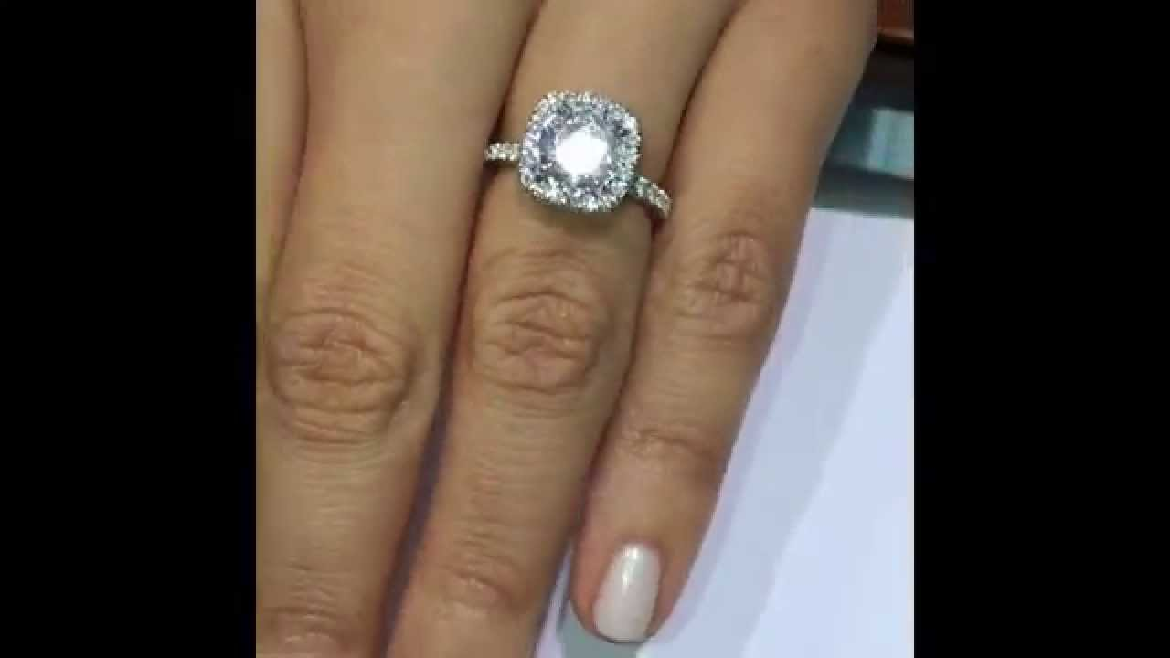 1 51 Ct Round Diamond Handmade Engagement Ring In Double