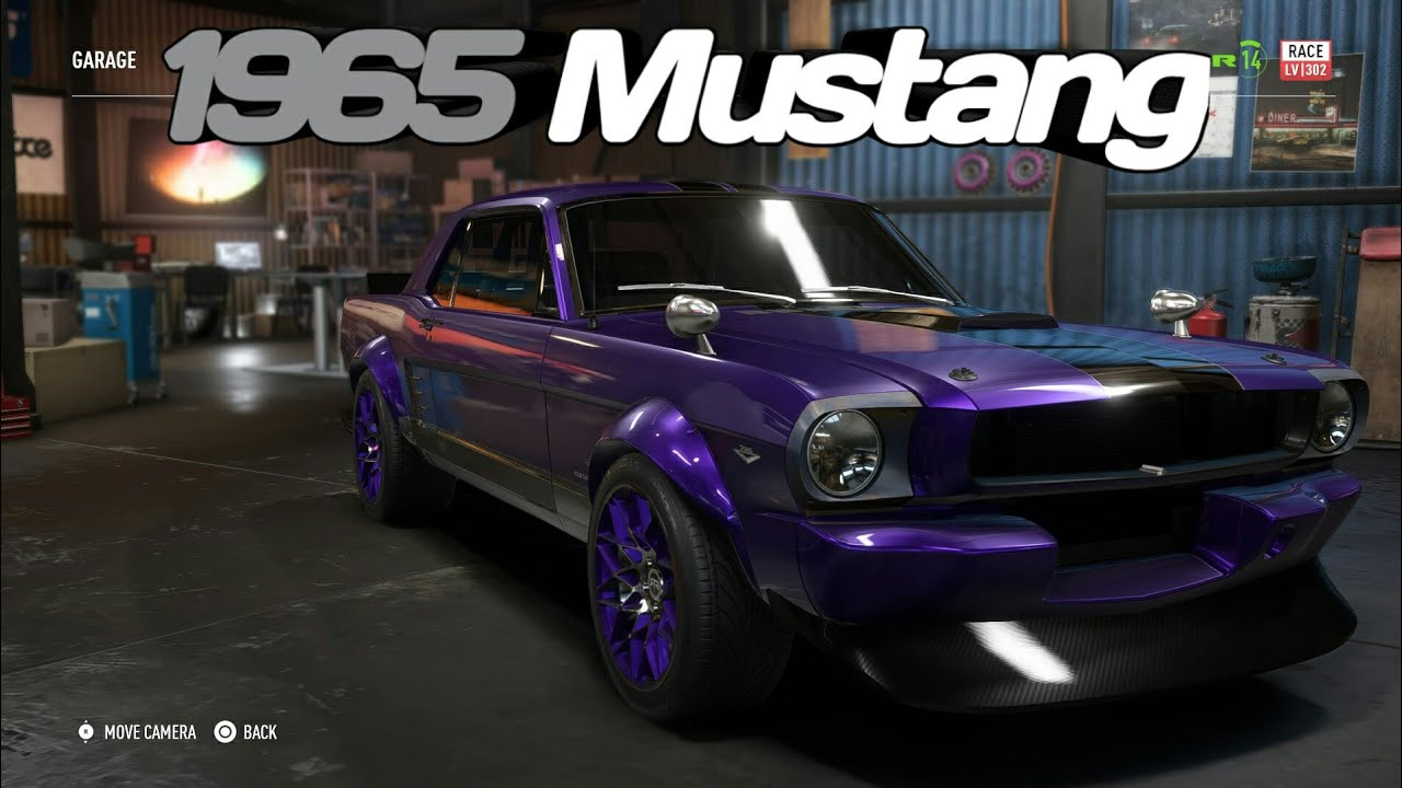 1965 ford mustang derelict build super build race spec need for speed payback