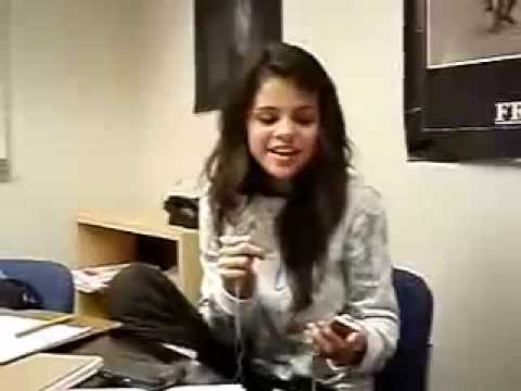 Selena Gomez - Singing To 'Rock Star' Acapella