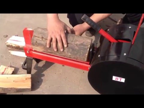 8T mechanical electric log splitter_China Qingdao Gemlongmachine Co.,ltd