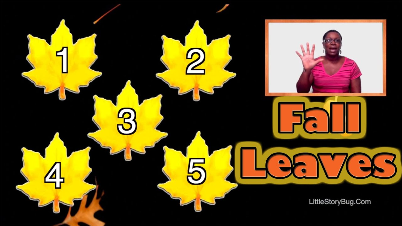 counting fall leaves littlestorybug youtube