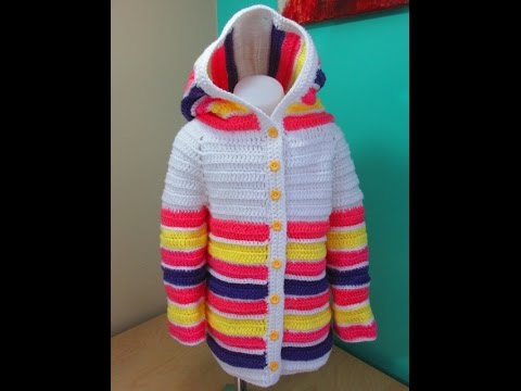Crochet girl sweater 3 to 5 years old for beginners