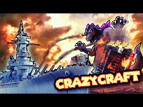 Minecraft | Crazy Craft 3.0 - NAVY BATTLESHIP vs MOBZILLA! #91