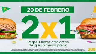 2x1 #Subway25años...