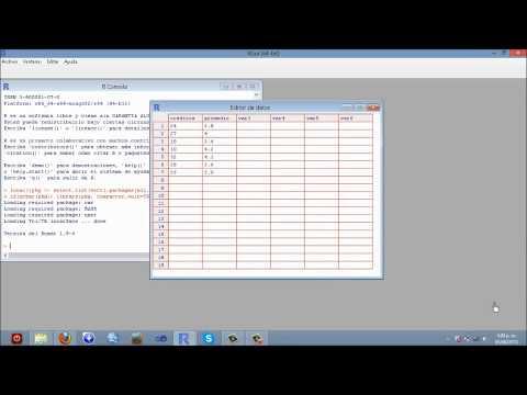 Coeficiente de correlación de Spearman  R Proyect