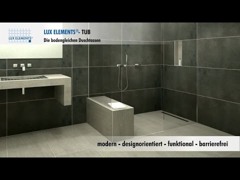 Lux Elements Montage Bodengleiche Duschtassen Tub H In