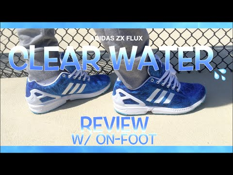 """Adidas ZX Flux """"Clear Water"""" Review W/ On-Foot"""