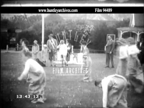 School Sports in the 1930's.  Archive film 94489