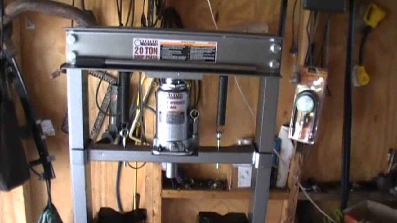 Harbor Freight 20 Ton Shop Press Youtube