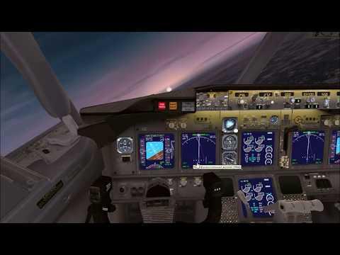 Взлёт самолёта из кабины пилота Боинг 737 800